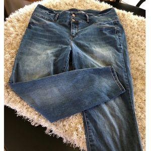 Refuge High Waist Skinny Jeans Size 16